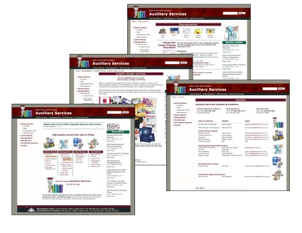 Auxiliary Services Website