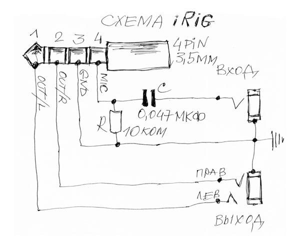 Универсальный iRig для iPhone и Андроид своими руками или