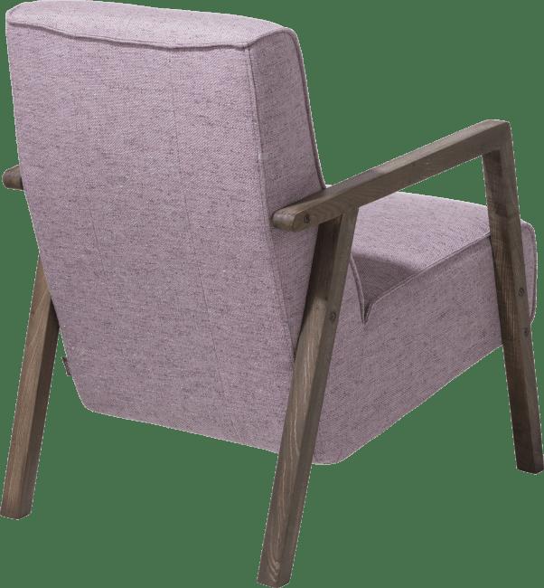 bueno fauteuil avec accoudoir en bois vintage clay white black