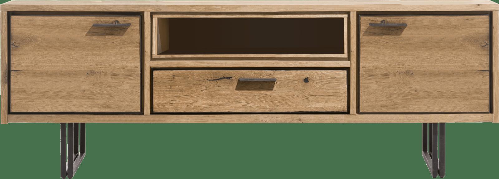 denmark lowboard 170 cm 2 portes 1 tiroir 1 niche led