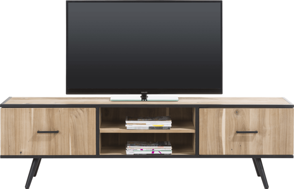 kinna meuble tv 190 cm 1 porte 1 tiroir 2 niches