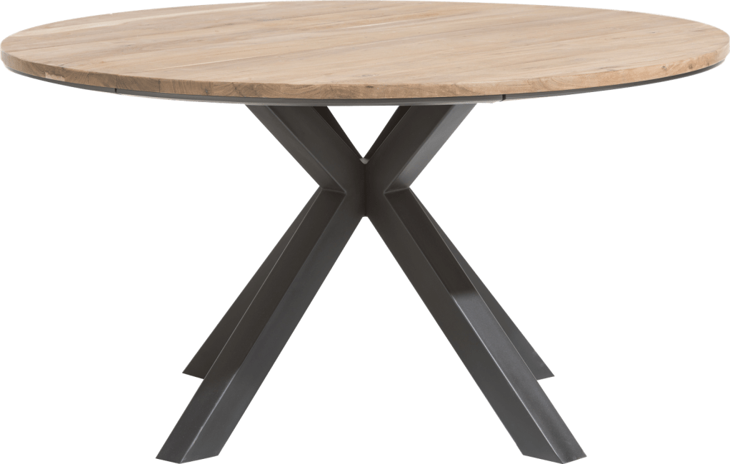 colombo table ronde 150 cm chene massif mdf