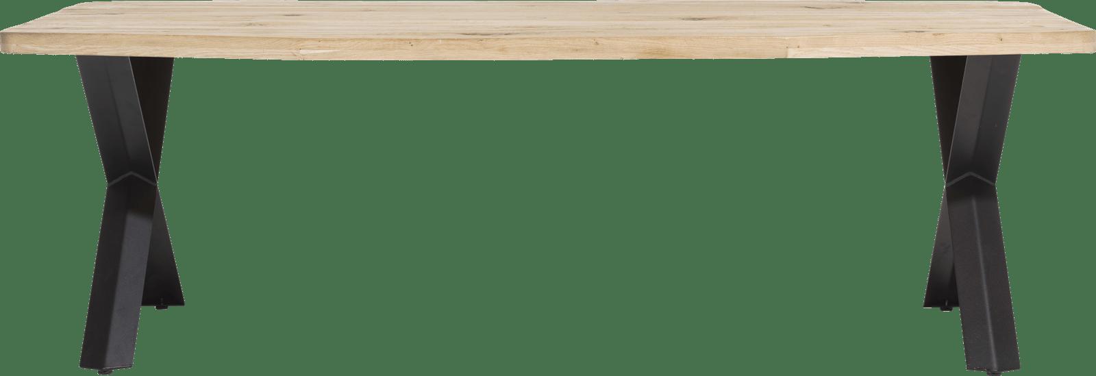 maddox table 250 x 100 cm bois pied forme x