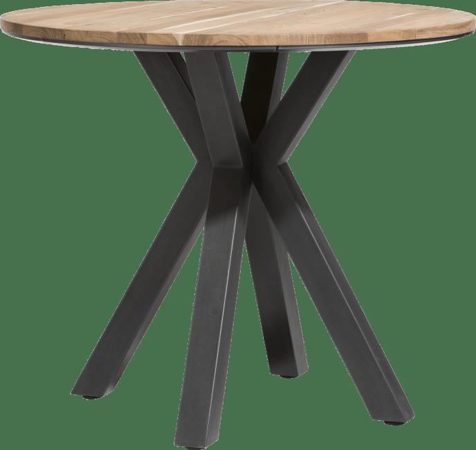 colombo table de bar ronde 110 cm kikar massif mdf