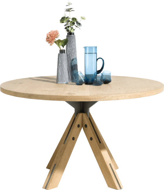 jardino table ronde 130 cm pied central