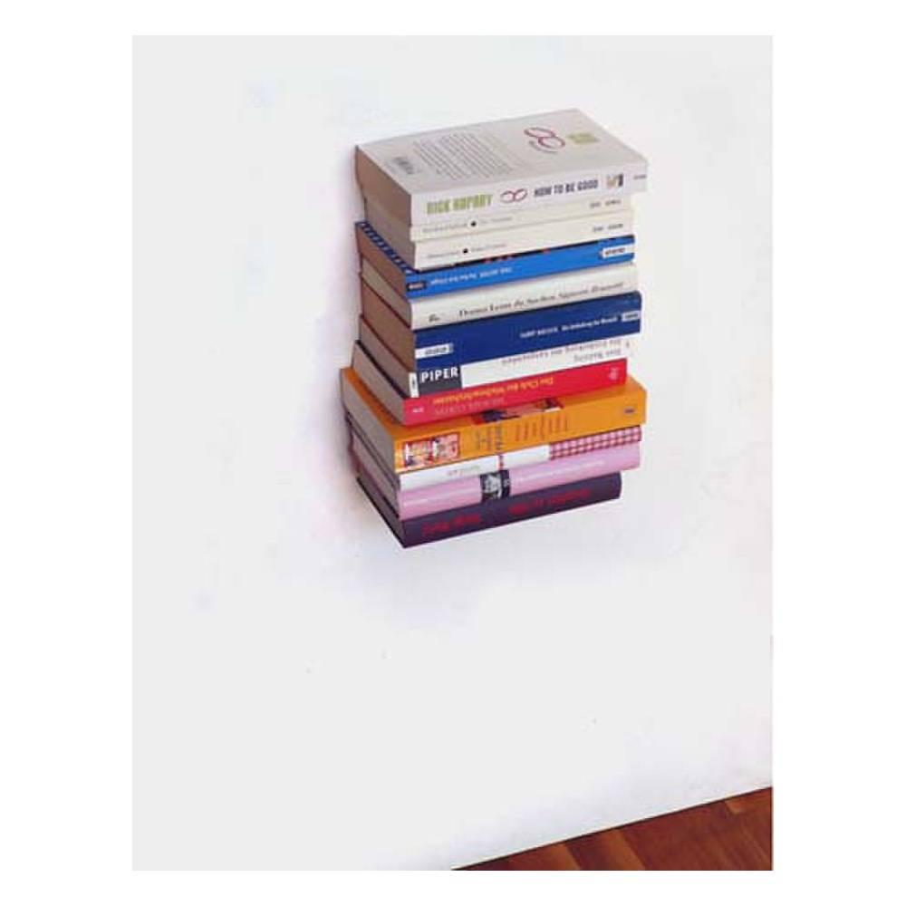 Mit diesem Bücherregal scheinen die Bücher an der Wand zu schweben