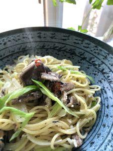 いわしの缶詰パスタ 塩麹 発酵 札幌 土方夕暉