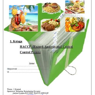 HACCP w Gastronomii Drink Bar
