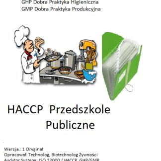 HACCP Przedszkole Publiczne