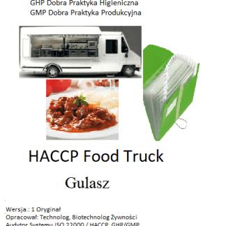 HACCP Food Truck Gulasz