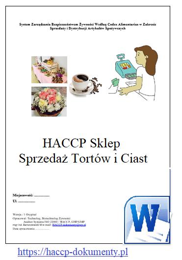 HACCP GMP/GHP Sklep Sprzedaż Tortów i Ciast