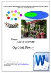 HACCP GMP/GHP Ogródek Piwny