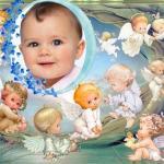 Fotomontaje de ángeles para bebés
