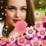 Fotomontaje de bellas flores