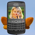 Fotomontaje de tema BlackBerry