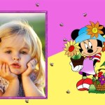 Fotomontaje infantil de Minnie