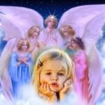 Fotomontaje con ángeles gratis