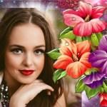 Hacer fotomontaje de flores gratis
