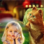 Fotomontaje de Garfield