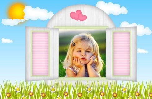 Fotomontajes para fotos de niños