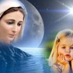Fotomontaje junto a la Virgen María