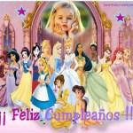 Fotomontaje de Cumpleaños con las Princesas