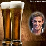 Fotomontaje de vasos de cerveza para regalar