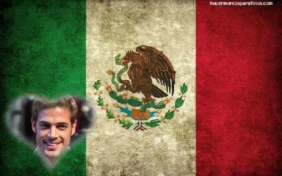 Fotomontaje de Bandera Mexicana