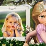 Fotomontaje para niñas de Rapunzel