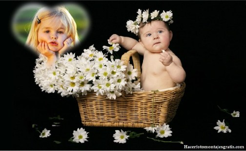 Fotomontaje de bebés
