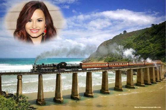 Fotomontaje de tren