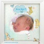 Fotomontaje de nacimiento niño