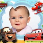 Fotomontaje infantil de Cars con Rayo y Mate
