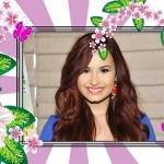 Fotomontaje de flores lilas