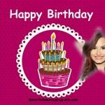 Fotomontaje de Cumpleaños con enorme pastel