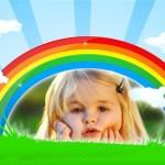Fotomontaje de arcoiris