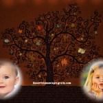 Fotomontaje de árbol de la vida