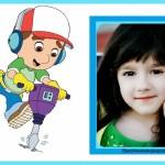 Fotomontaje infantil de Manny a la Obra