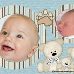 Fotomontaje para dos fotos de bebes con ositos