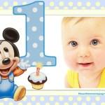 Fotomontaje de Primer Cumpleaños con Mickey