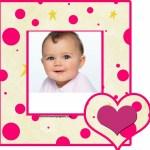 Fotomontaje de marco con corazones