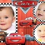 Fotomontajer infantil de Cars para colocar tres fotos