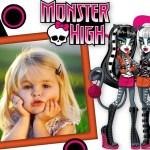 Fotomontaje infantil de Monster High