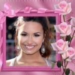Fotomontaje de marco para foto con rosas