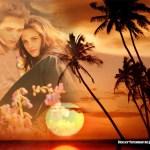 Romantico fotomontaje de amanecer