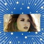 Fotomontaje de marco azul con estrellas