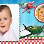 Fotomontaje con los personajes de Aviones de Disney