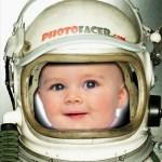 Fotomontaje de astronauta gratis