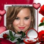 Hermoso fotomontaje de San Valentin con rosas y corazones