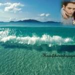 Fotomontaje con paisaje de playa